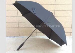 China Wind Resistant Mens Black Golf Umbrella , Auto Open Custom Golf Umbrellas on sale