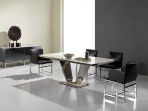 Quality Rectangle Marble Dining Tables For 8 People , Dining Room Furniture , Luxury dining table for sale