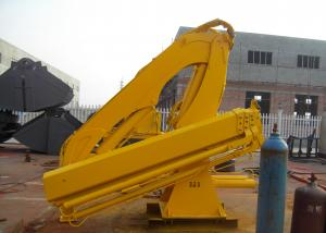 China Small Type Hydraulic Telescopic Knuckle Boom Crane for Marine Ship Use 4T on sale