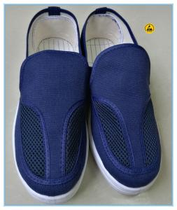 China blue color canvas upper pvc outsole esd shoes esd work shoes on sale