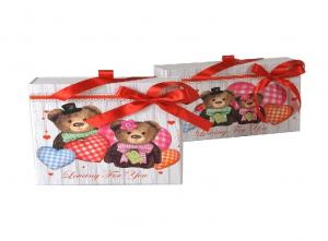 China Printing Gift Box Container  / Pull Out Wedding Gift Box With Ribbon on sale