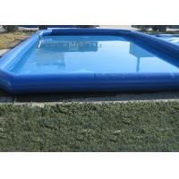 Popular Blue Kids Swimming Pool , Pirate Slide Above Ground Swimming Pools For Kids