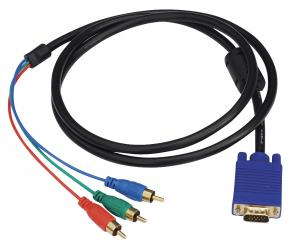 China 10m Ohms Monitor VGA Cable , VGA Cable To 3RCA Cable Double Shielded on sale