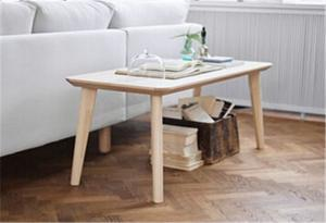 China Stylish Modern Wooden Tea Table , Small Reclaimed Wood Coffee Table Square on sale