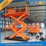 1T 5.5M Hydraulic Heavy Duty Scissor Lift Electric Home Scissor Lift Platform With CE