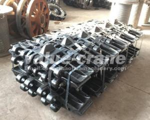 China Terex Demag CC1400 track shoe  track pad crawler crane undercarriage on sale