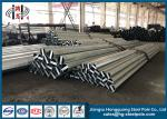 45FT Polygonal Conical Hot Dip Galvanized Steel Pole With Climbing Rung Q345