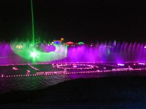 China Colorful RGB Outdoor Laser Light Show With Laser Water Screen Projector on sale