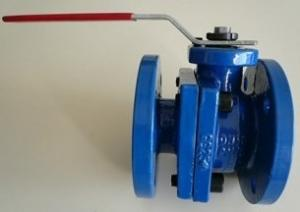 China Cast Iron Floating Type Ball Valve API6D Full Bore Blue Color 2 - 4 Size on sale
