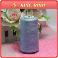 Shiny Blue Low Elongation Sewing Machine Embroidery Thread 50s/2 For Knitting