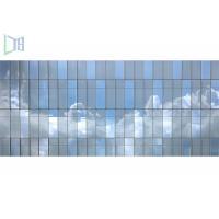 Innovative Design Aluminum Curtain Wall , Visible Unitized Glass Curtain Wall