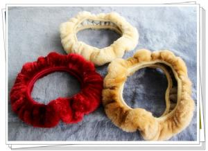 China sheepskin steering wheel covers on sale