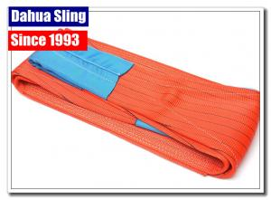 China Anti Abrasion Polyester Lifting Slings Heavy Duty Lifting Straps Smooth Surface on sale