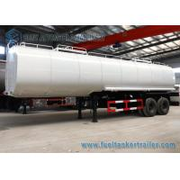 China Mild Steel Q345 Dual Axle Trapezoid Asphalt Tank Trailer 30000L on sale