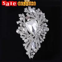 Big Large Silver Wedding Brooch,Huge Crystal Heart Long Brooch Lapel Pin Design Wholesale