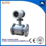 electromagnetic industrial effluents flowmeter with low cost