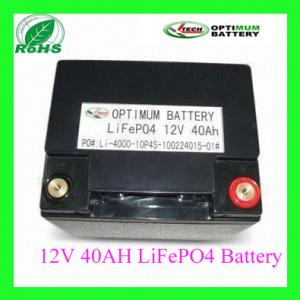 China 12 Volt 4omah Rechargable Electric  Vehicles Lifepo4 Lithium Battery on sale