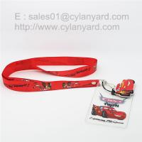China Full colour sublimated lanyard with plastic vinyl id pouch, on sale