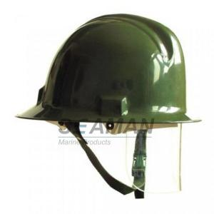 China Custom Marine Fire Fighting Helmet / Firefighter Rescue Helmet With Face Mask on sale