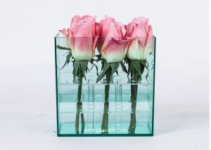 China Waterproof Square Acrylic flower Arrangement box for 9roses Packaging Luxury preserved Rose Shipping Boxes on sale