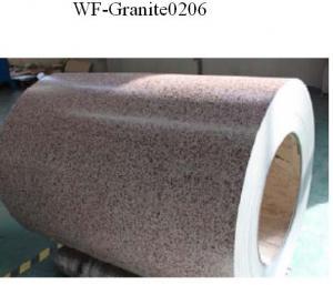 China Bobine en acier enduite par couleur modelée par marbre, tôle d'acier galvanisée dans la bobine on sale