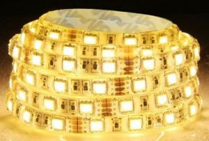 China 4.8w /M 12v SMD3528 Flexible Led Light Strip Waterproof 240 Lm/M For Walkway on sale