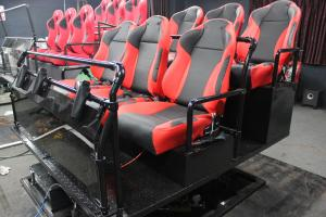 China 5D motion theater supplier 6DOF 6seats hydraulic seats platform home theater system on sale
