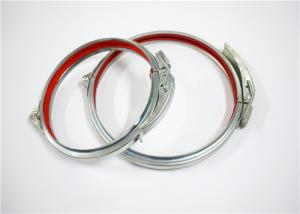 China Locking Ring Quick Release Pipe Clamp Metal Duct Clamp 80-600mm Hot Dipped Galvanized on sale