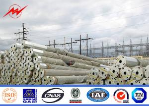 China Gr 65 11.9m 33kv Power Transmission Poles Tubular Pole For Overhead Project on sale
