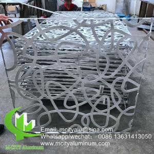 China Powder Coated  5mm Laser Cut Aluminum Panels Wood Color 1200x2400mm Recommand Size on sale