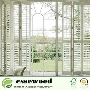 China Interior Plantation Style PVC Wooden Window Blinds Shutters on sale