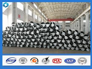 China 70FT 5mm Thick Q420 Steel Electric Pole Galvanized And Black Tar Painted on sale
