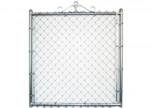 China Chain Link Fence Double Swing Gate 5x5 4x10 Chain Link Fence Gate Panels on sale