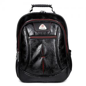 China Durable Simple Pu Leather Backpack , Fashionable Style Casual Leather Backpack on sale