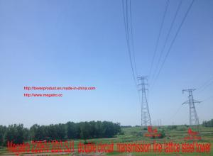 China MEGATRO 220KV 2D2 SJ1  double circuit  transmission line lattice steel tower on sale