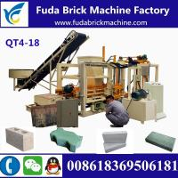 QT4-18 customized automatic hydraulic concrete block making machine production line