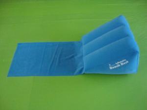 China inflatable beach cushion pillow, inflatable beach back pillow, inflatable triangle pillow on sale