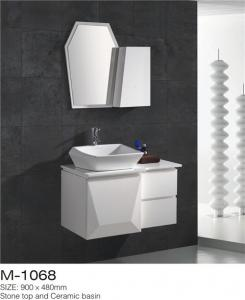 China Waterproof Bathroom Sinks And Vanities / Modern Bathroom Vanities MDF Material on sale