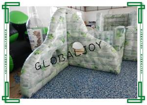 China 0.9MM PVC Inflatable Paintball Barriers War Game Broken Wall 1.8m Height on sale