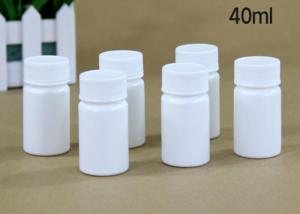 China 40 Ml Plastic Tablet Bottles Tablet Container For Medicine Capsule Pill on sale