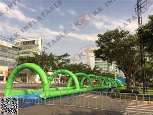China 200m Inflatable Adult Water Slide / Giant Slip N Slide with Air Blower on sale