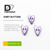 Water Resistant Colored Shirt Buttons Heart Shaped For Women Clothing