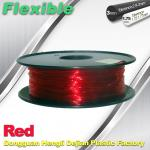 TPU Flexible 3d Printing Filament 1.75 / 3.0 mm  Red and Transparent