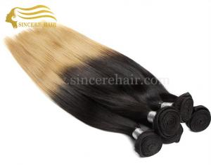 China 22 Inch Brazilian Remy Human Hair Weft Extensions For Sale - 22 Straight Ombre Blonde Human Hair Weave for sale on sale