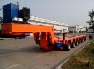 China Multi axle hydraulic gooseneck Low Bed Trailers / semi truck trailer on sale