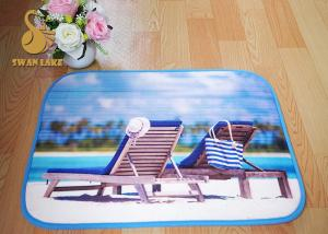 China Eco Friendly Memory Foam Toilet Indoor Area Rugs / Custom Bath Mats on sale