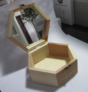Delicate Hexagon Wooden Gift Boxes Small Solid Wood Jewelry Box