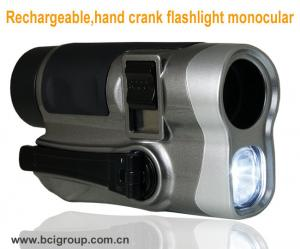 China Rechargeable,hand crank flashlight monocular Mobile Phone Chargers ,hand crank flashlight on sale