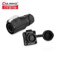 China M16 8pin male and female waterproof connector IP65 8pin signal connector Fast locking waterproof connector on sale