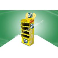 Yellow CMYK Offset Printing POS Cardboard Display Stands With Five Shelf For Food